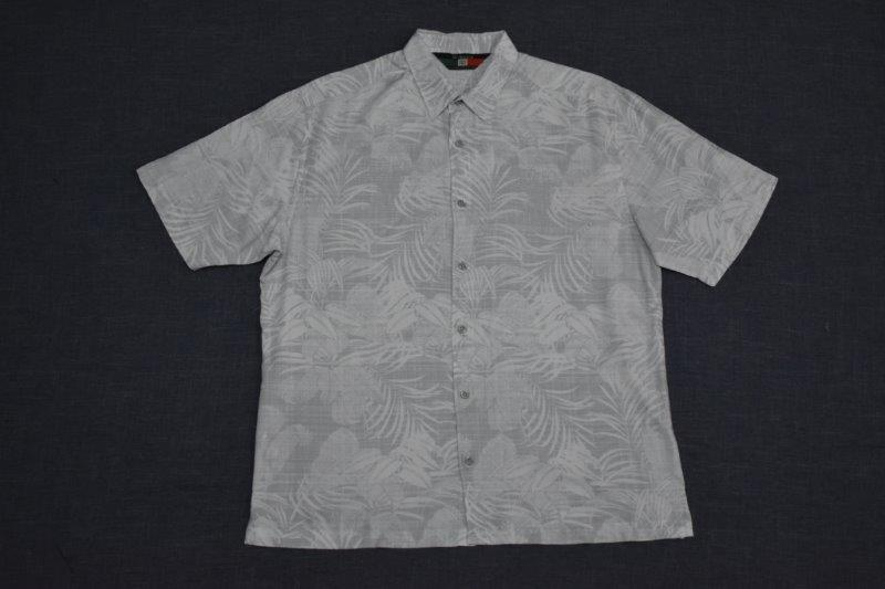 D'Accord Hawaiian shirt silver gray 5977