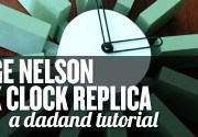 George Nelson Block Clock Replica