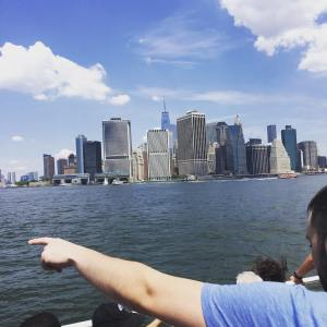 The view from the ferry to Governors Island