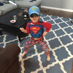 With this outfit, he's like a Superman/baseball player/Maverick combo this…