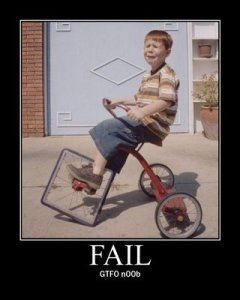 fail square wheel tricycle gtfo n00b 240x300 Lay Z Boy