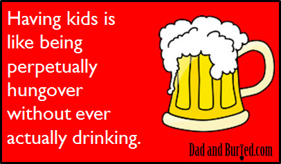 kids hungover ecard1 [E card] Parenting Under the Influence