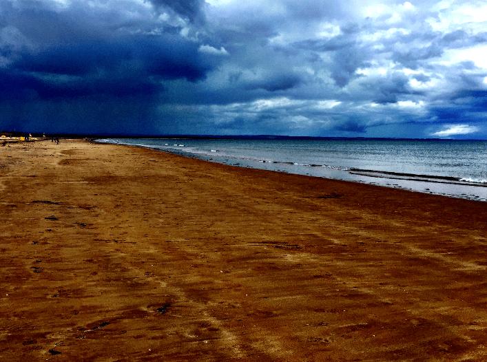 wet sands beach