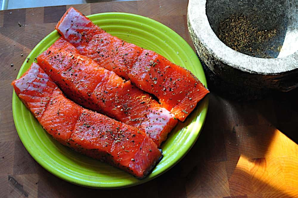 Grilled Salmon With Coriander-Fennel Spice Rub - Dad Cooks ...