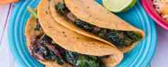 Pressure Cooker Kale Tacos with Caramelized Onions