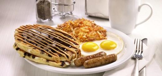 Peanut Butter Cup Pancake Breakfast