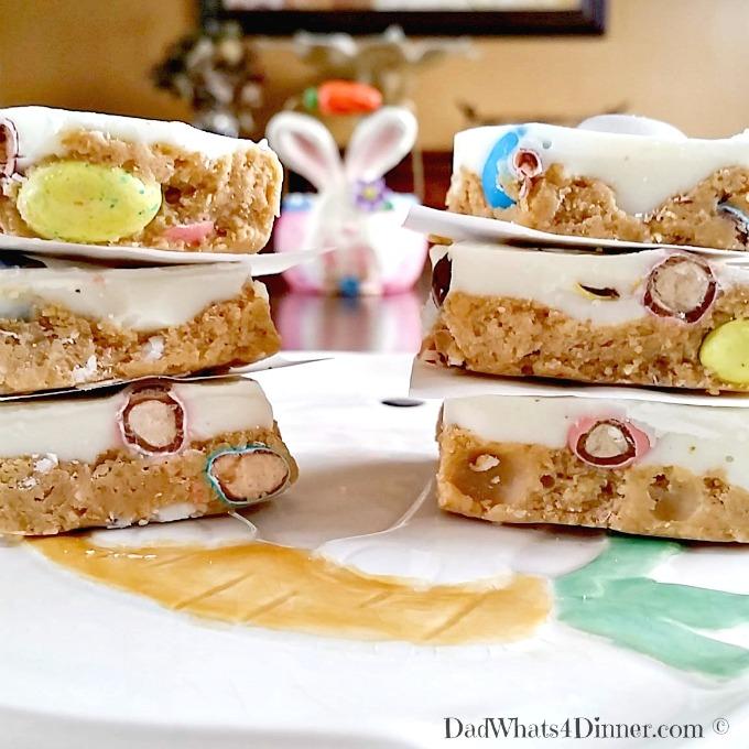 Peanut butter easter bars dad whats 4 dinner for Dessert for easter dinner