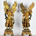A Pair of Carved Archangels