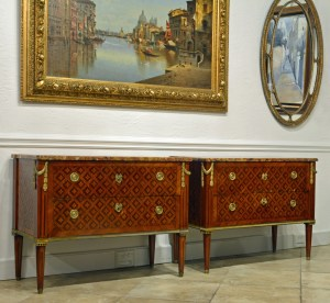 Pair Marquetry 12