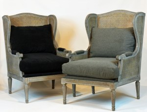 French Grey Caned Bergeres