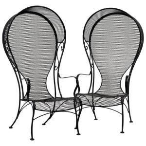 Pair Woodard Hooded Chairs