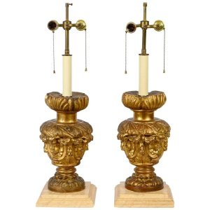 Italian Carved Lamps