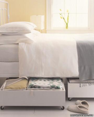 closet on wheels under bed, organizing, storage