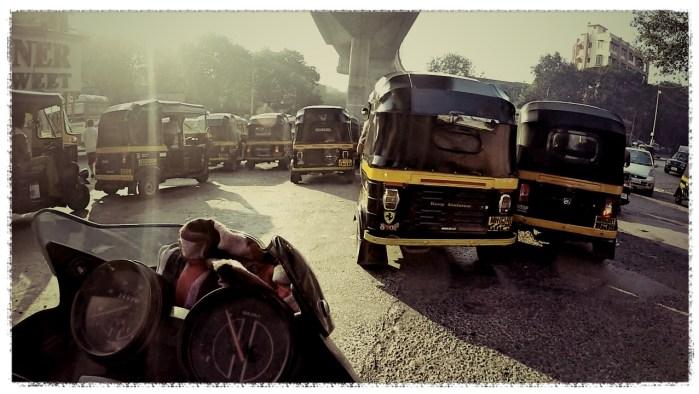 motorcycle through mumbai
