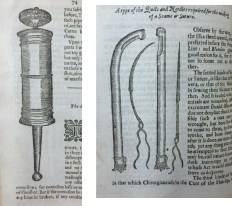 Early modern anatomists sought to bring hands-on surgical skills and medical knowledge into closer contact with each other.Image: Helkiah Crooke, An Explanation of the Fashion and Use of Three and Fifty Instruments of Chirurgery, Gathered out of Ambrosius Pareus (London: Michael Sparke, 1634). Credit: John Martin Rare Book Room, University of Iowa