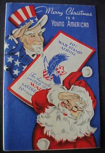 Greeting Card Christmas War Stamp Album 1940.