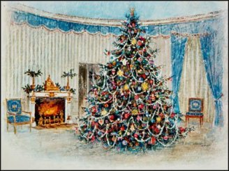 Johnson White House Christmas Card