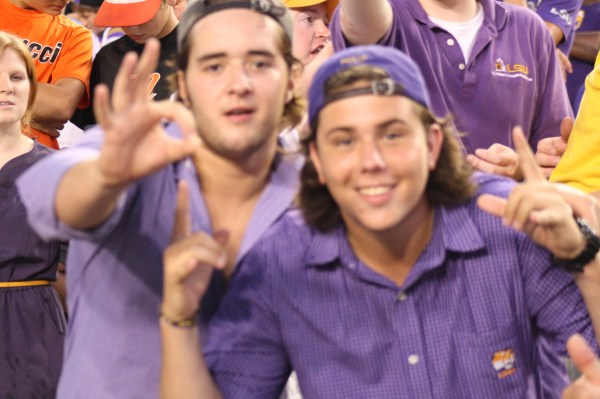 A couple of cool LSU Football Fans that made the photo selection