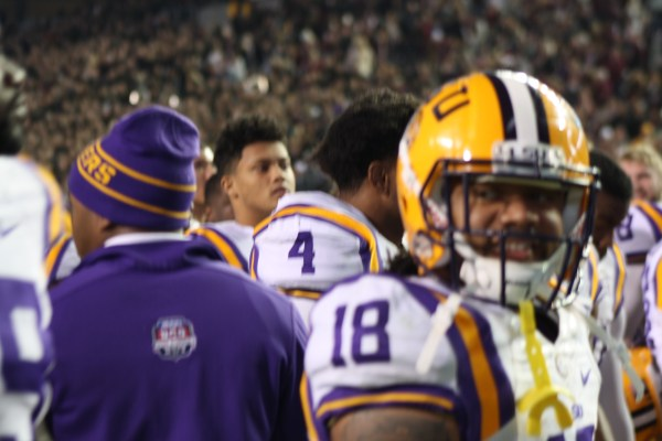 LSU rb Terrance Magee all smiles after a win over Texas AM