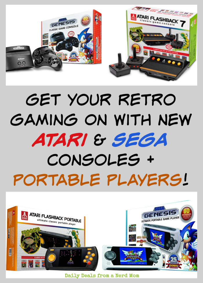 Get Your Retro Gaming On With New Atari & Sega Consoles + Portable Players!