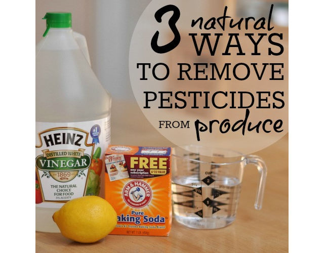 wash off pesticides
