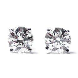 050-Ct-Round-Cut-14K-White-Gold-Diamond-Stud-Earrings-0