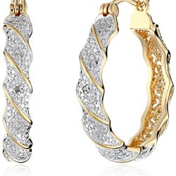 18k-Yellow-Gold-Plated-Two-Tone-Diamond-Accent-Twisted-Hoop-Earrings-0
