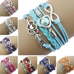 Doinshop-New-Infinity-Chain-Cuff-Jewelry-Antique-Leather-Charm-Bracelet-0