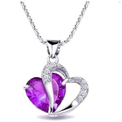 Topstaronline-TM-Rhodium-Plated-Silver-Accent-Amethyst-Heart-Shaped-Pendant-Necklace-0