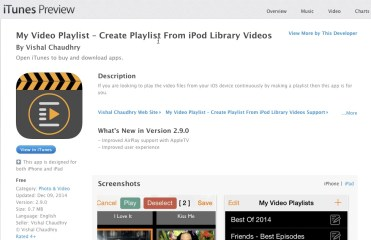 Video Playlist on iPad