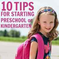 10 Tips for Starting Preschool or Kindergarten