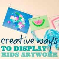 Creative Ways to Display Kids Artwork