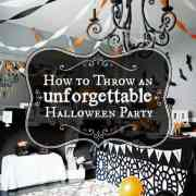 how to throw an unforgettable halloween party