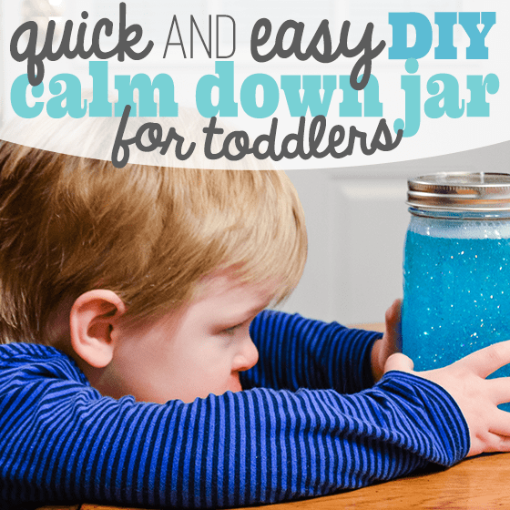 Quick and Easy DIY Calm Down Jar for Toddlers