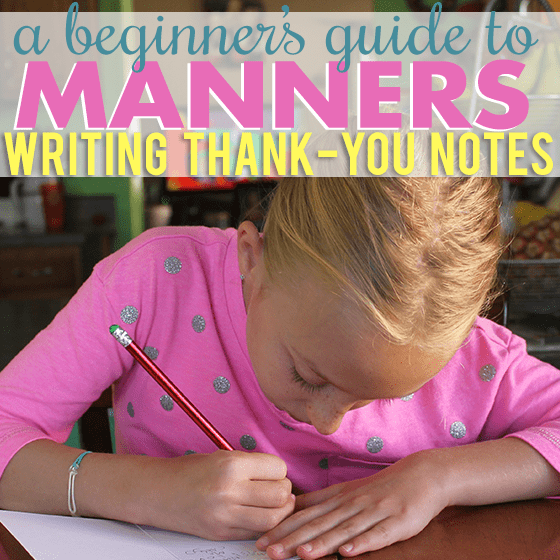 A Beginners Guide to Manners Thank You Notes