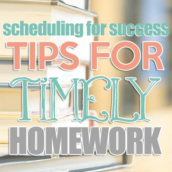 Tips for Timely Homework