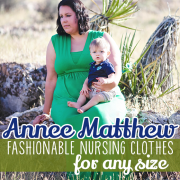 Annee Matthew Fashionable Nursing Clothes for Any Size