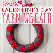 Simple Valentine's Day Yarn Wreath