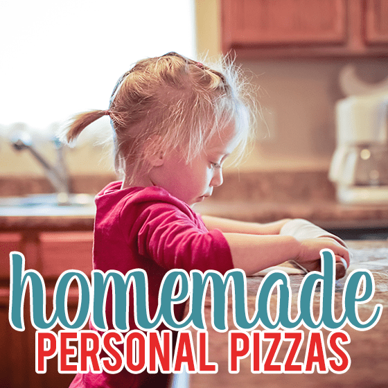 homemade personal pizzas