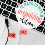 10 Ways to Washi Organizing Edition