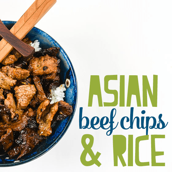 Asian Beef Chips and Rice