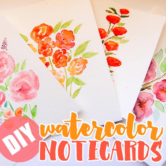 DIY Watercolor Notecards