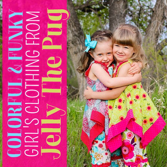 colorful and funky girls clothing from jelly the pug