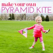make your own pyramid kite