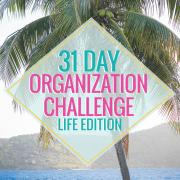 31 Day Organization Challenge Life Edition