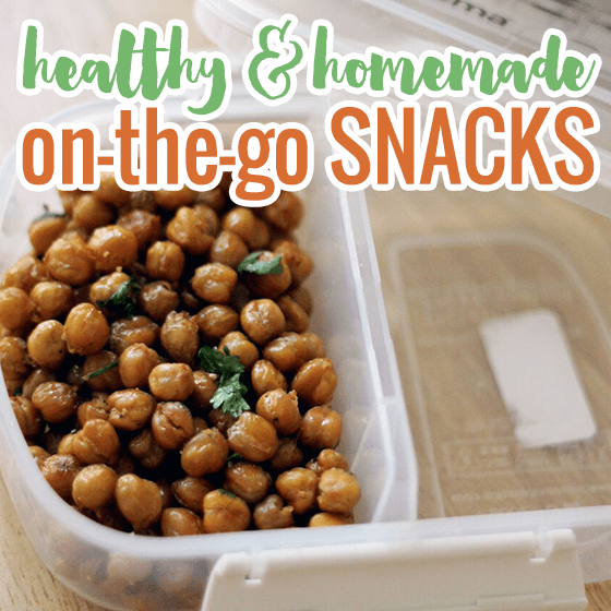 Healthy homemade snacks to go