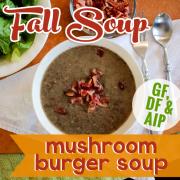 Mushroom Burger Soup