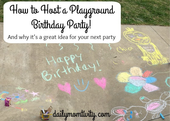 How to Host a Playground Birthday Party