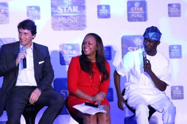 L-R Walter Drenth,Marketing Director, Nigerian Breweries, Collete Otusheso,Head of Marketing Operations,MTV Base, Ayeni Adekunle Samuel, Publisher and C.E.O, Nigerian Entertainment Today