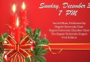 Regent proudly presents the first Choral Christmas Concert